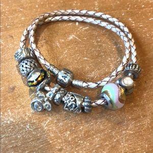 Pandora wrap bracket with charms